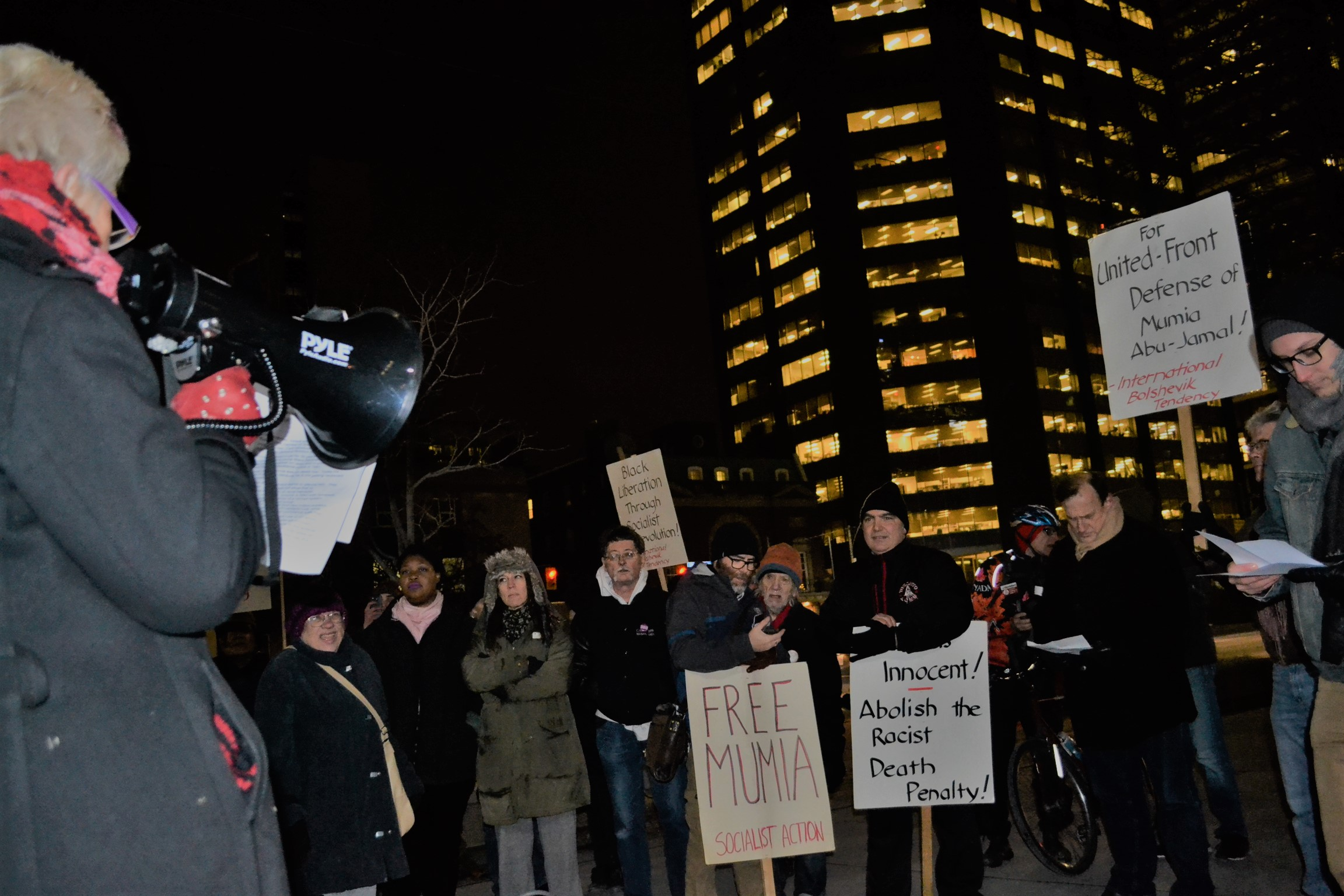 Rally for Mumia in Toronto December 2016