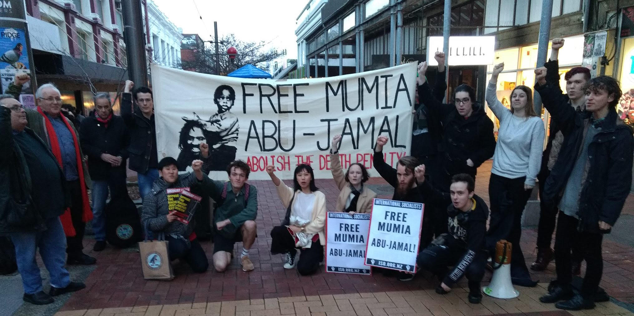 Rally for Mumia in Wellington, New Zealand, 30 August 2018