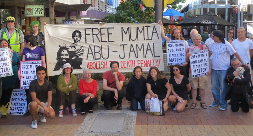 Rally for Mumia in Wellington December 2016
