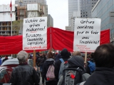 2012: Montréal, premier mai : cort�ge TBI dans une manifestation organisée par la CLAC /